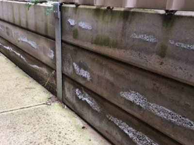 retaining wall salt damp