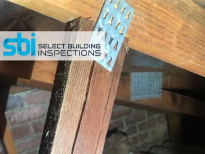 splitting roof truss inspection
