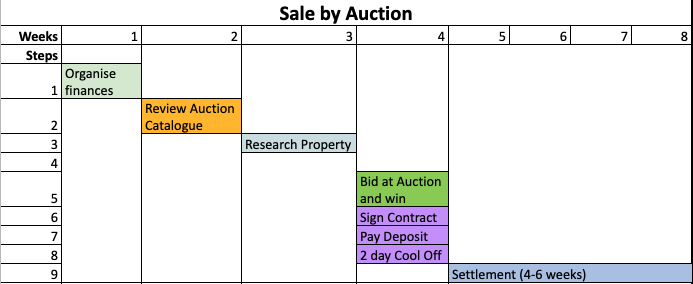 Sale by Auction Gantt Chart